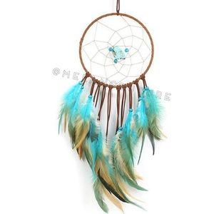 Turquoise Dream Catcher Feather